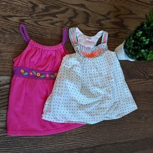 Savannah and Circo girls sleeveless tops size 4T.